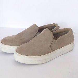 STEVE MADDEN Women's Gills Slip On Sneakers Sand Sz 8